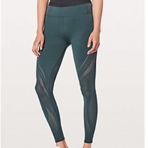 Lululemon Teal Reveal Tight Interconnect 25.5'